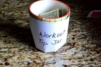 workout tip jar