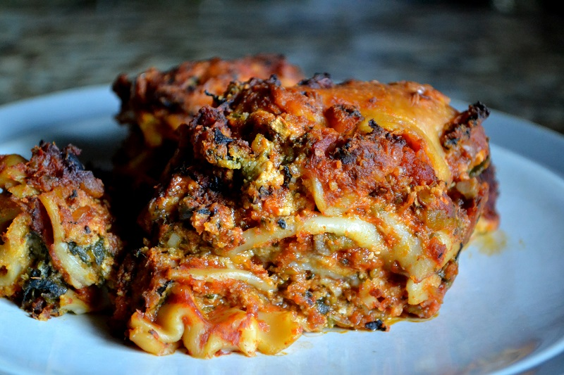 ... out this crock pot veggie lasagna recipe and it did NOT disappoint